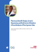Pharmacy Benefit Design, Generic Dispensing, and Mail Service Utilization