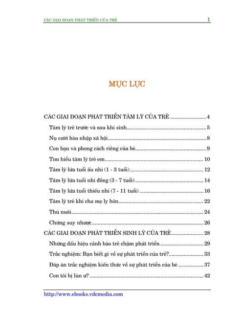 Ebook Cẩm Nang Các Giai Đoạn Phát Triển Của Trẻ