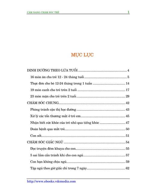 Ebook Cẩm Nang Chăm Sóc Trẻ