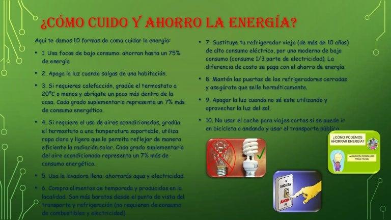 C mo cuido y ahorro la energ a 1 - Luz y ambiente ...