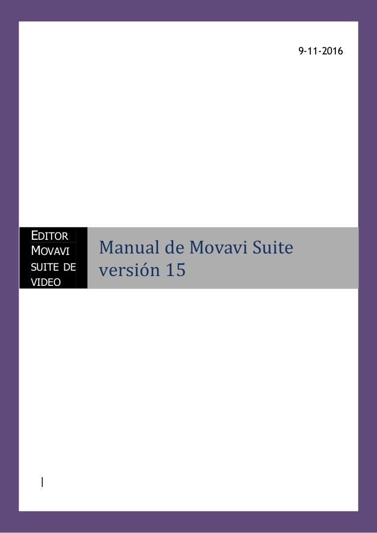 Manual del editor de vídeo Movavi Suite 15