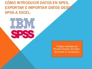 Spss consultant