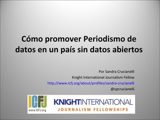 Cómo promover periodismo de datos (versión español)