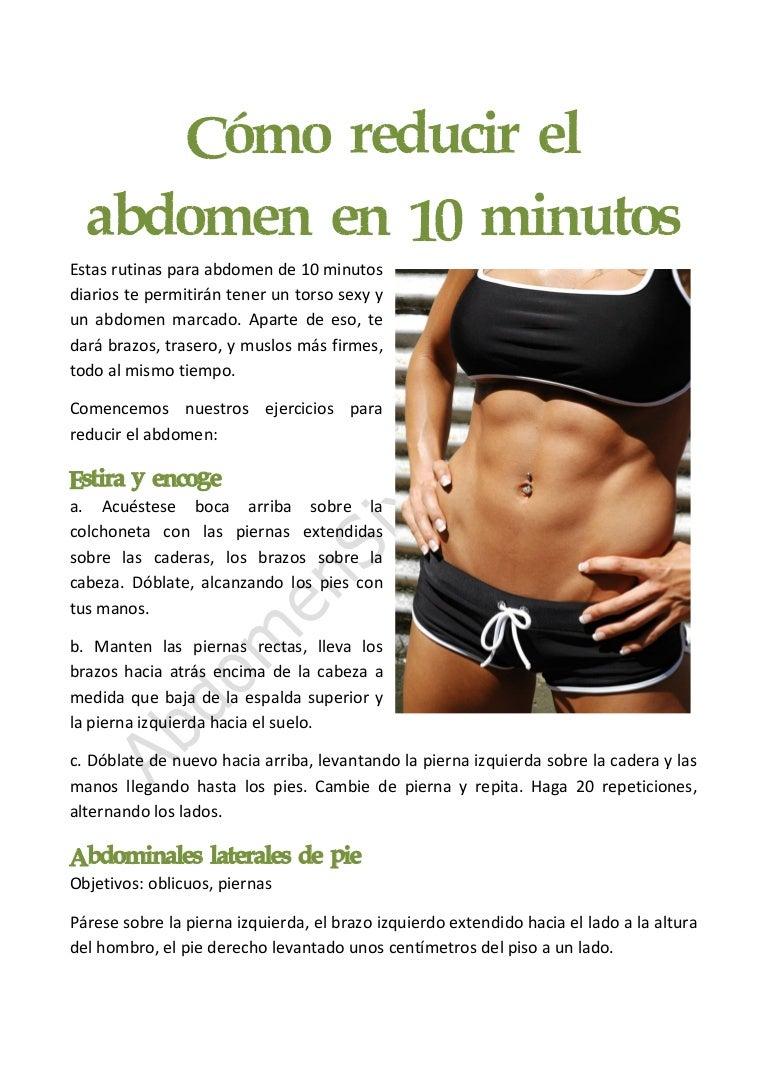 C mo reducir el abdomen en 10 minutos for Cocinar en 10 minutos