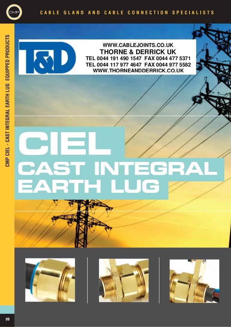 Cmp Cable Glands Ciel Cast Integral Earth Lug High Volta Products Short Circuit Testing