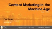 Content Marketing in the Machine Age: How to Make Your Content More Automated and Intelligent
