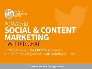 #CMWorld Twitter Chat with Joe Chernov on Social & Content Marketing