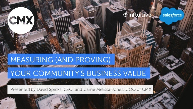 How To Measure And Prove Your Community S Business Value