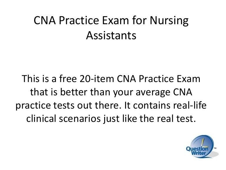 Cna Practice Exam