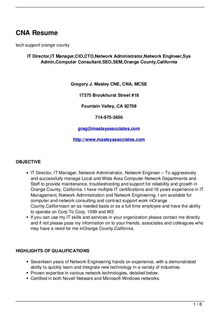 integration specialist sample resume sample cover letter sales cna resume 120713050030 phpapp01 thumbnail 4 integration specialist - Resume Examples Cna