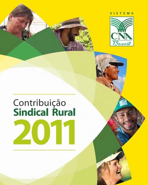 CNA - Cartilha da Contribuição Sindical Rural 2011