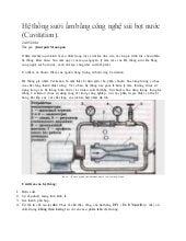Công nghệ gia nhiệt sử dụng hiệu ứng sủi bọt nước