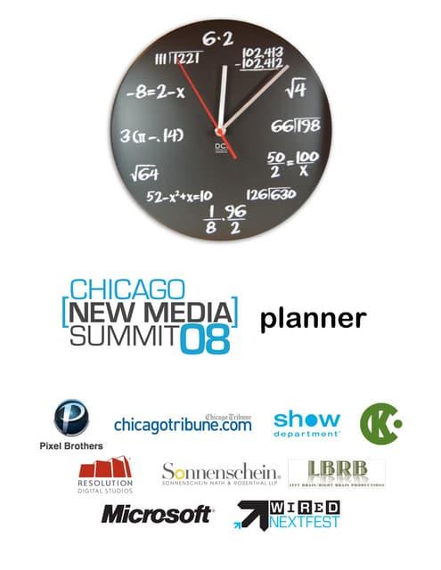 The Chicago Convergence Planner & Agenda