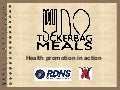 Tuckerbag Meals – Health promotion in action