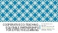 Co-teaching presentation for TESOL 2017 PreK-12 Teacher Day