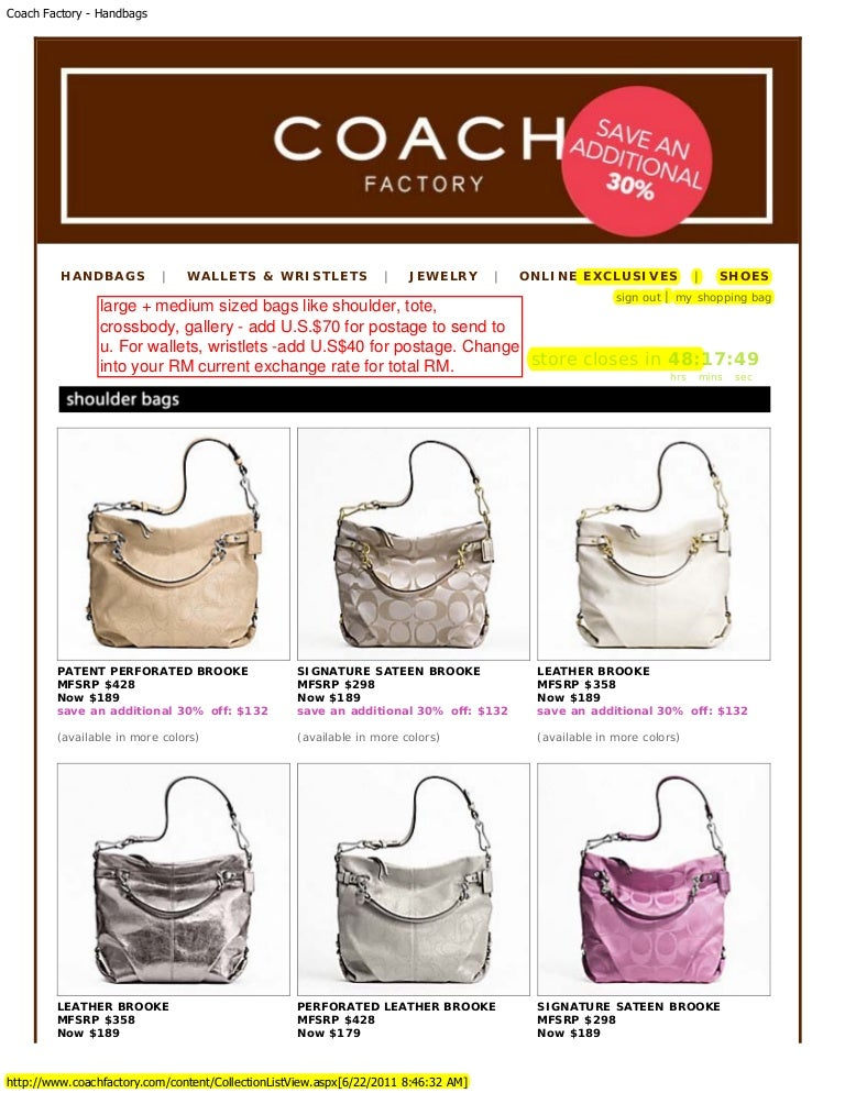 Coach U.S. Factory Outlet 70% Big Sale for Hari Raya 2011 5be6a9aab5654