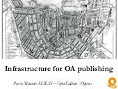 Infrastructure for OA publishing