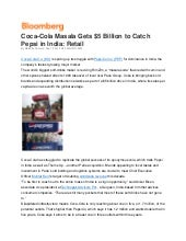 Coca cola-masala-gets-usd-5-bn-to-catch-pepsi-in-india