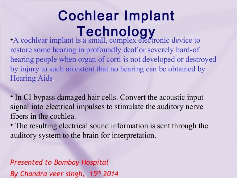 Cochlear Implant 3