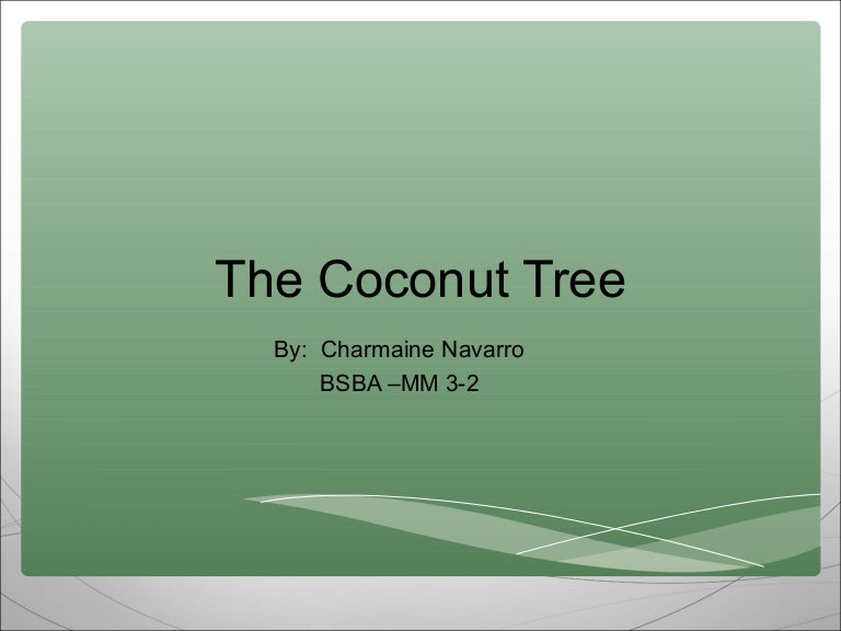 coconut tree ppt