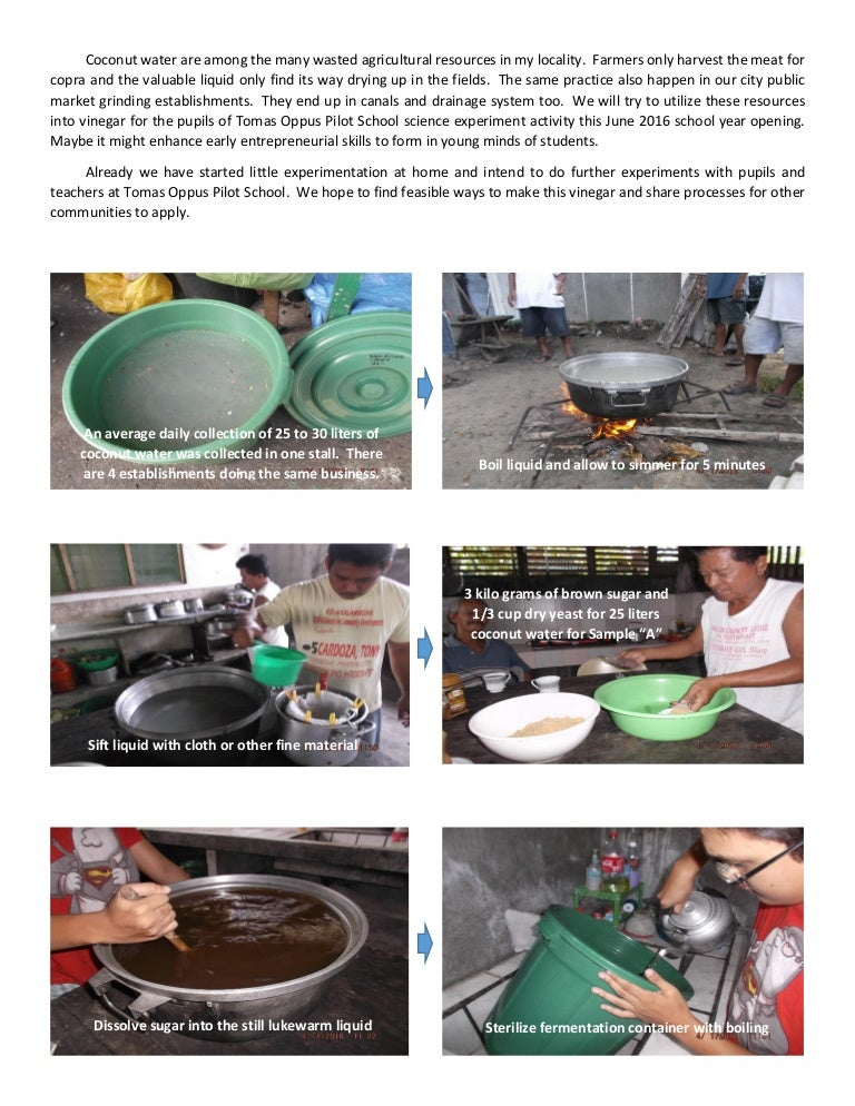 how to make vinegar from coconut water