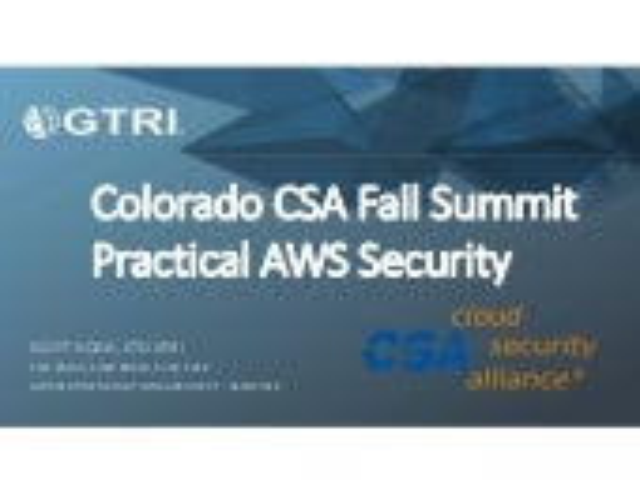 Practical AWS Security - Scott Hogg