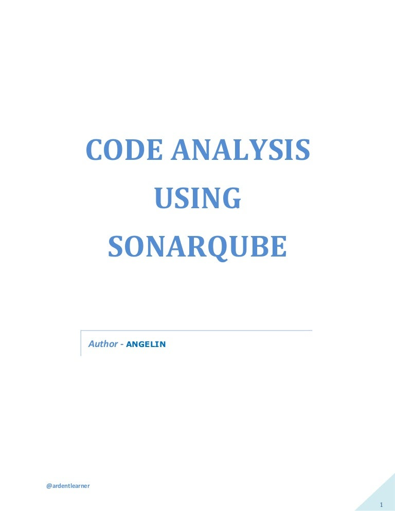 Java Source Code Analysis using SonarQube