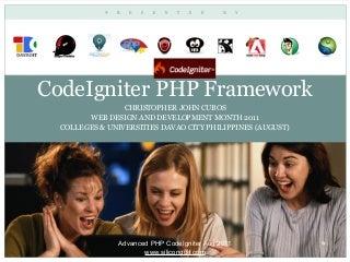 CodeIgniter - PHP MVC Framework by silicongulf.com