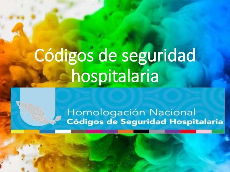 codigos de seguridad hospitalaria homologados