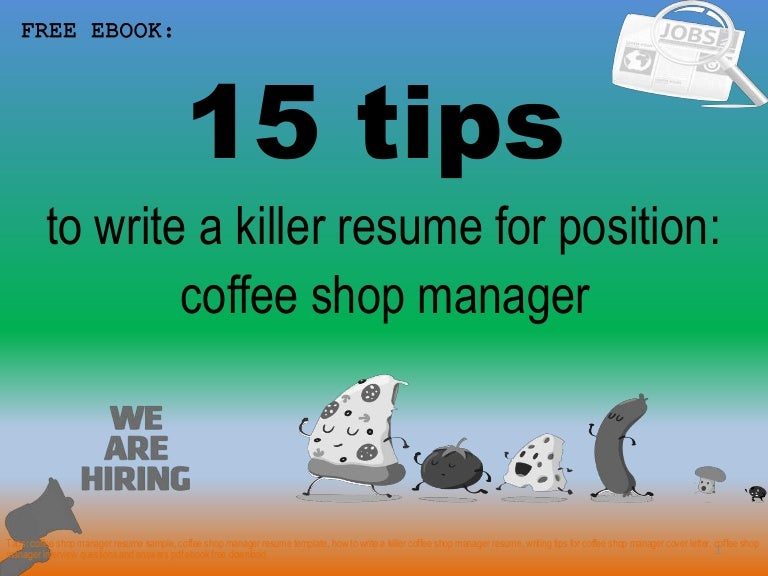 Coffee shop manager resume sample pdf ebook free download
