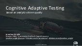 Swiss Testing Days - Cognitive Adaptive Testing (Analytics-Driven Digital Quality)