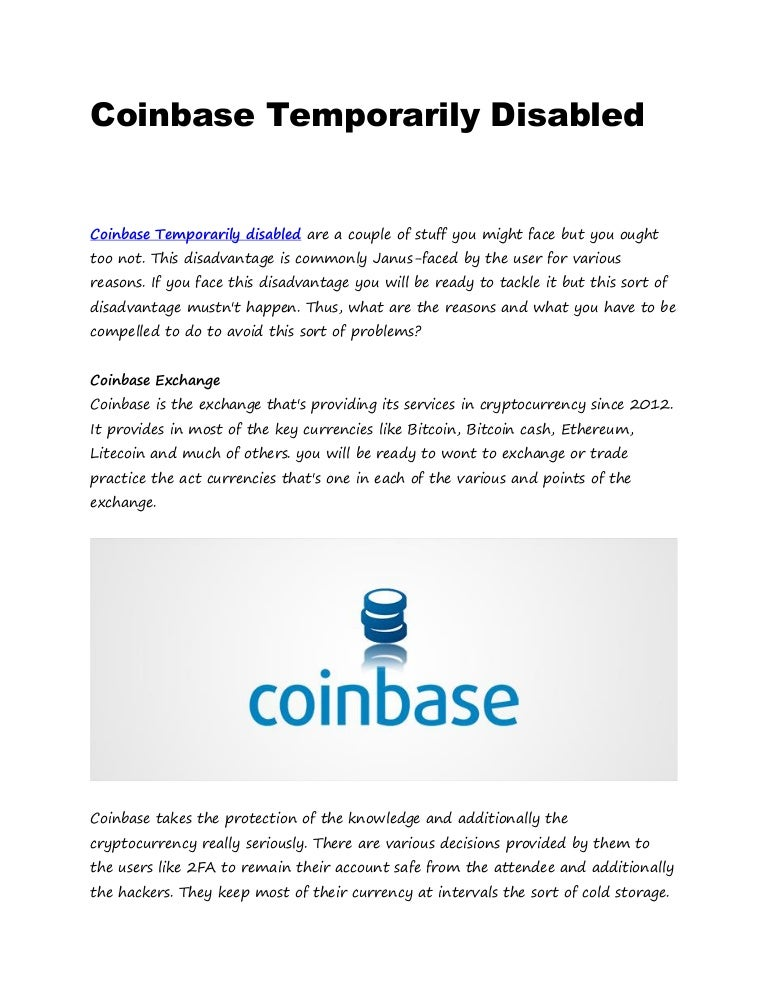 receive cryptocurrency disabled coin base