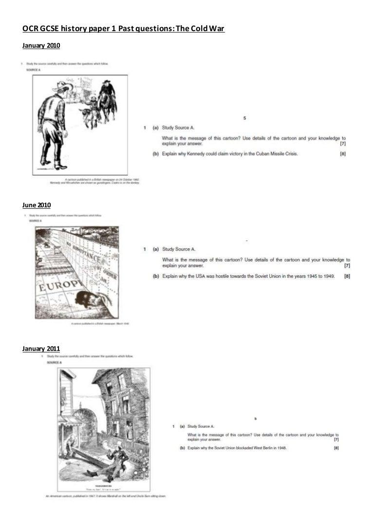 Cold war questions workbook
