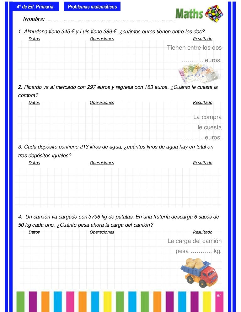 Colección de-problemas-4º-primaria