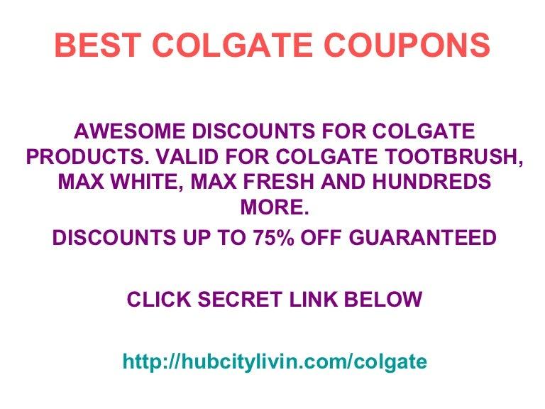 Colgate Coupons Promo Code December 2012 Until November 2013