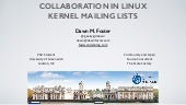 Collaboration in Linux kernel Mailing Lists
