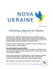Collecting computers for Ukraine