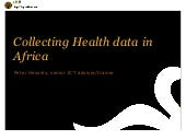 Collecting Health Data in Africa - Peter Hessels - KIT