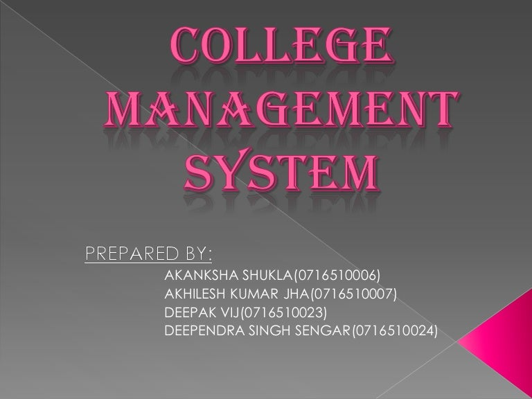 College Management Project