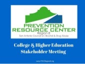 PRC Region 8 College & Higher Education Stakeholder Meeting 12.15.15