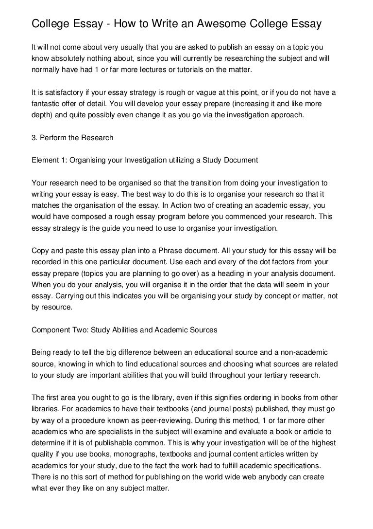 Best college essays how to write your college essay how to write