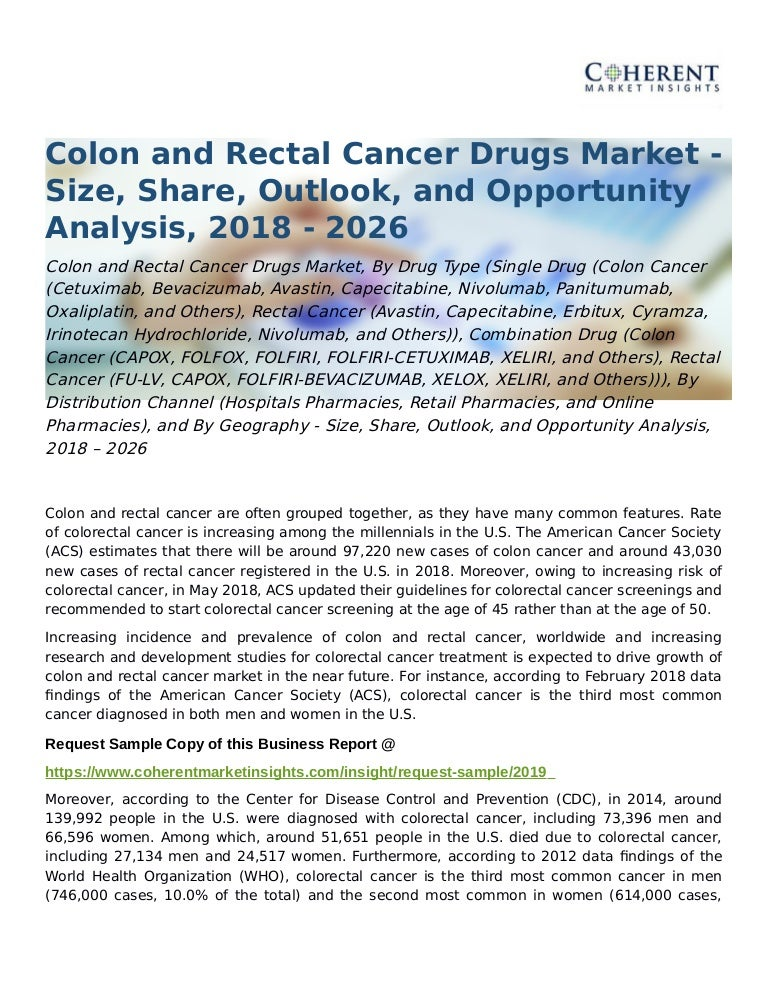 Colon And Rectal Cancer Drugs Market Opportunity Analysis 2018 2026