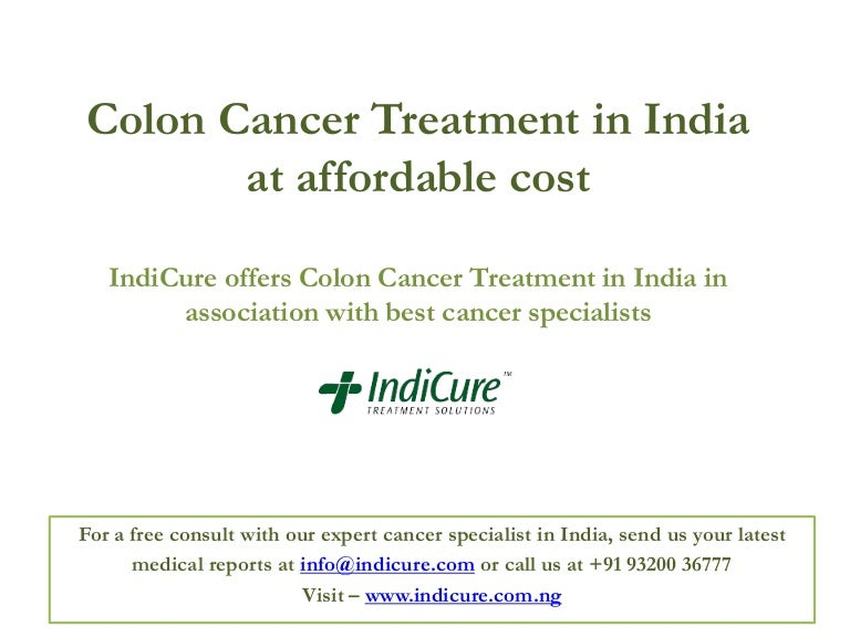 Colon Cancer Treatment In India At Affordable Cost