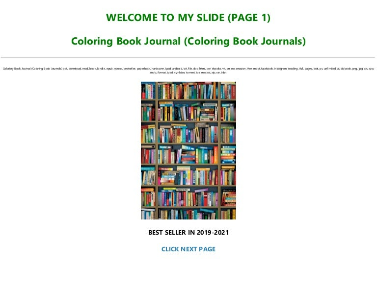 Free Read Book [PDF] Coloring Book Journal (Coloring Book Journals) [Full]