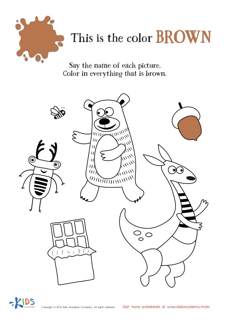 worksheet Color Brown Worksheets learning color brown for toddlers and preschool