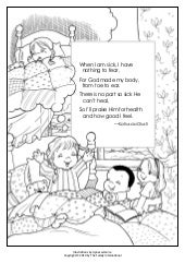 "Coloring Pages: ""God Made My Body"" and ""A Kind Deed"""