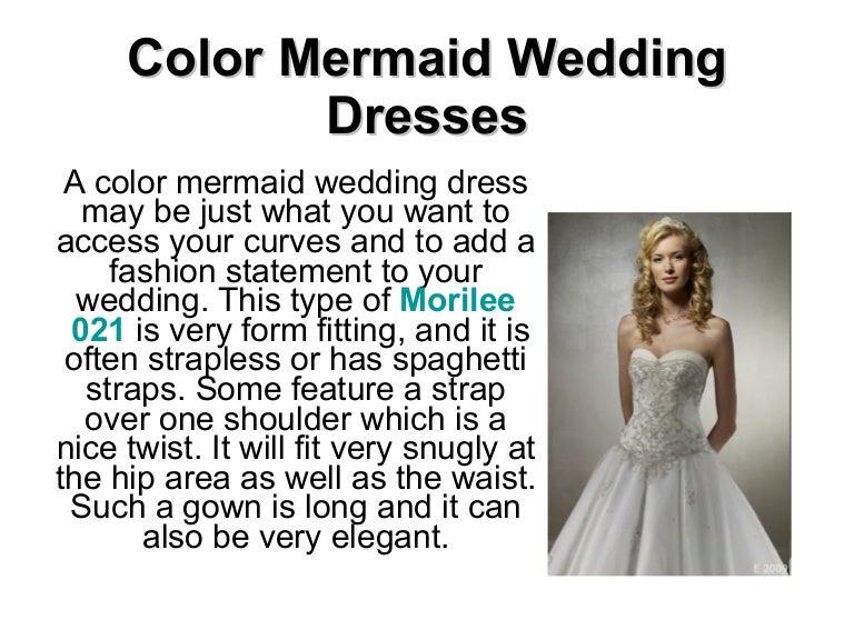 Color Mermaid Wedding Dresses