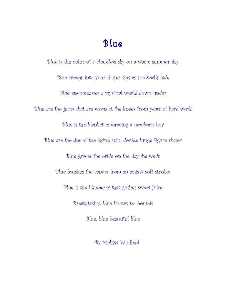 Color poem
