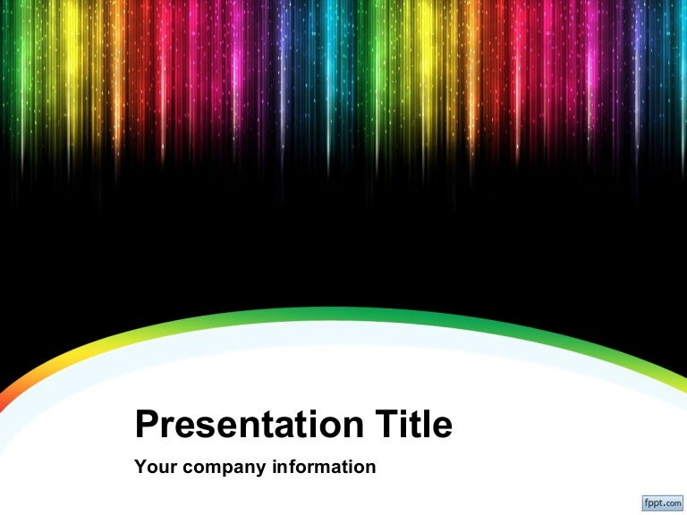 Color rain powerpoint background and template for cool powerpoint pre toneelgroepblik Choice Image
