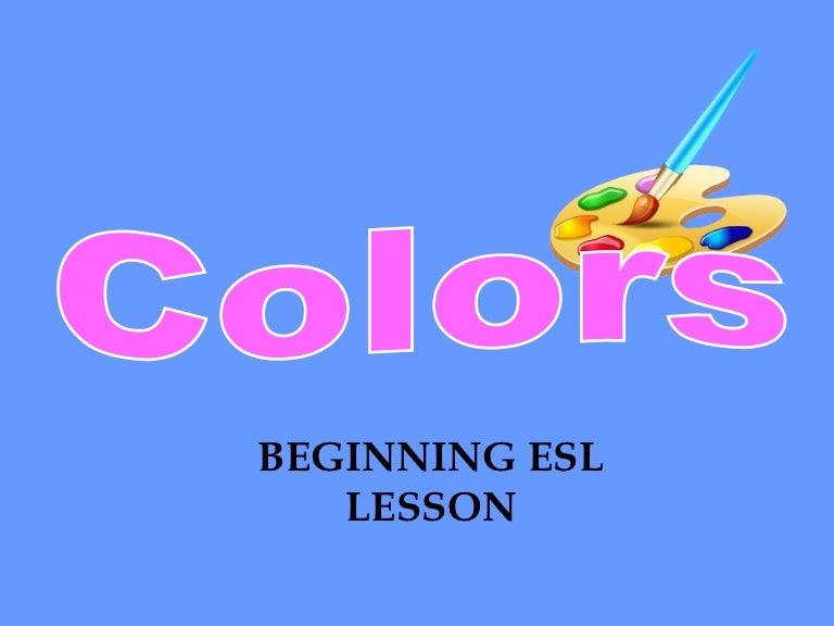 colors esl powerpoint